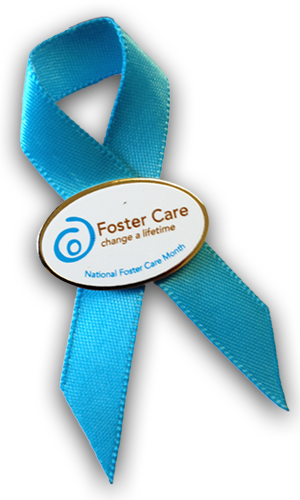 Foster care month ribbon